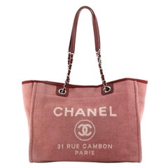 Chanel Deauville Tote Canvas Small
