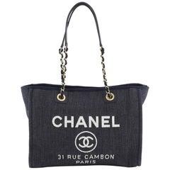 Chanel Deauville Tote Denim Small