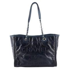 Chanel Deauville Tote Glazed Calfskin Small