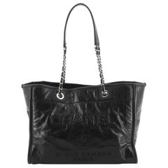 Chanel Deauville Tote Glazed Calfskin Small