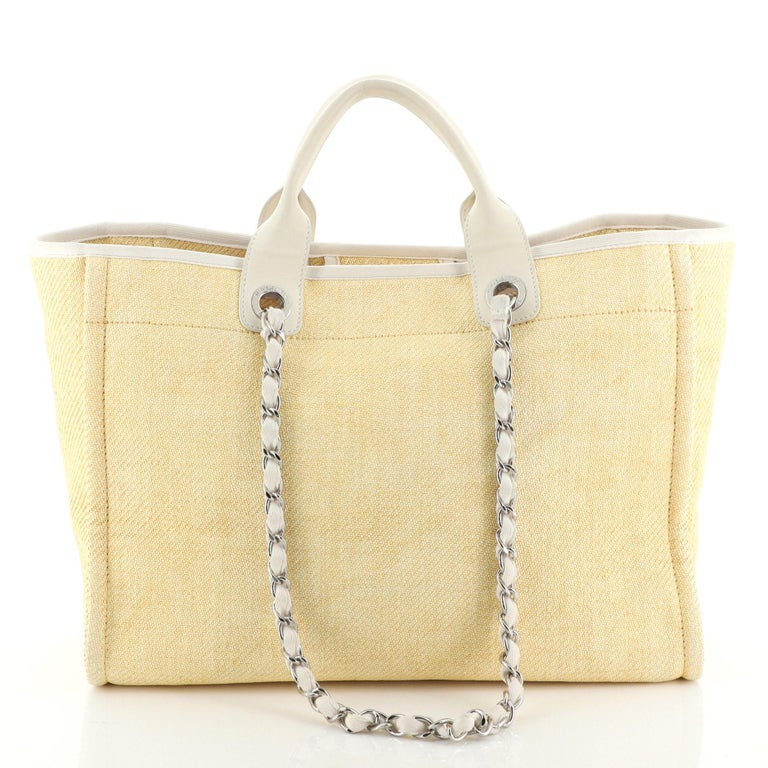 Women's or Men's Chanel Deauville Tote Raffia Small For Sale