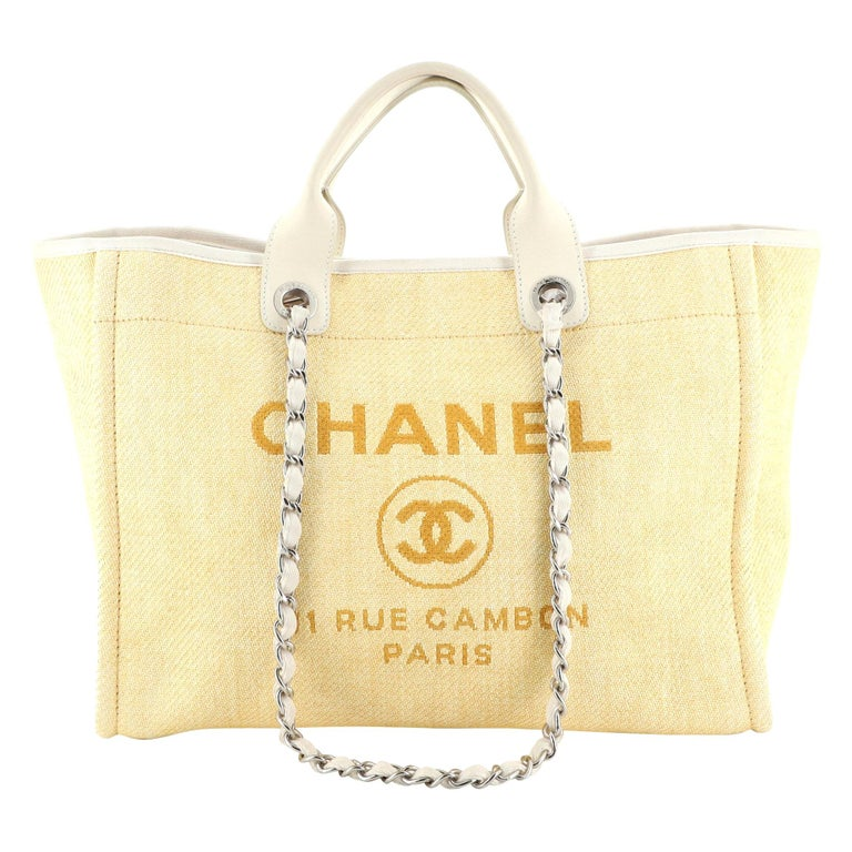 Chanel Deauville Tote Raffia Small For Sale