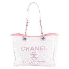 Chanel Deauville Tote Raffia Small