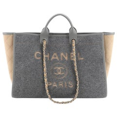 Chanel Deauville Tote Wool Felt Large