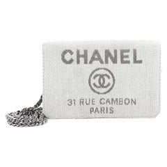 Chanel Deauville Wallet On Chain Coated Canvas