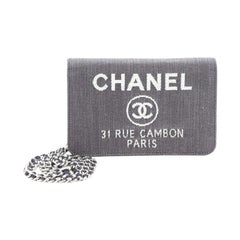 Chanel  Deauville Wallet on Chain Denim