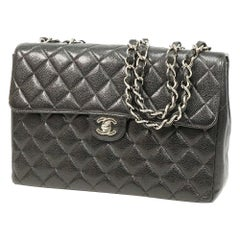 CHANEL Deca matelasse30 Womens shoulder bag A28600 black x silver hardware