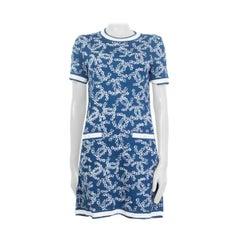 CHANEL denim blue cotton 2019 Sleeveless Knit Dress 34 XXS