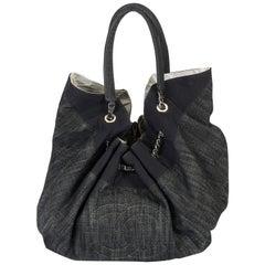 Chanel Denim Logo Shoulder Tote Bag