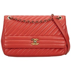 Chanel Diagonal Quilted Flap Bag