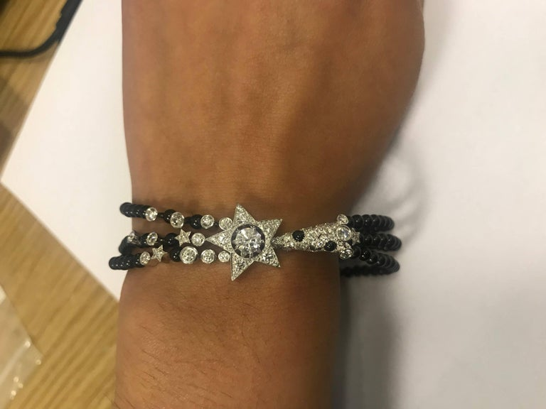 Women's Chanel Diamond and Spinel Comete Bracelet  For Sale