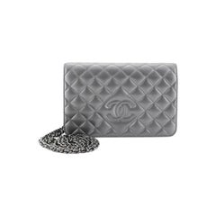 Chanel Diamond CC Wallet On Chain Quilted Lambskin