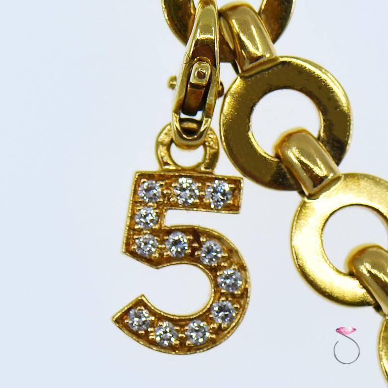 Rare stunning vintage Chanel charm bracelet, 100% authentic. This Gorgeous bracelet features the highly desirable Chanel