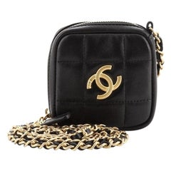 Chanel Diamond Clutch with Chain Quilted Lambskin