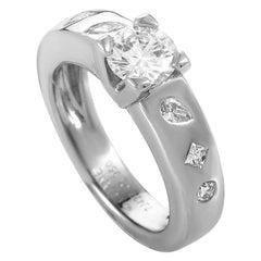 Chanel Diamond Platinum Engagement Ring
