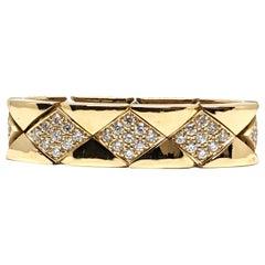 Chanel Diamond Ring Yellow Gold