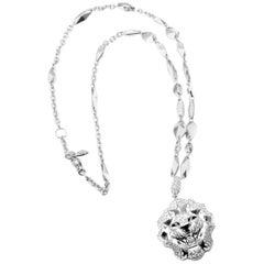 Chanel Diamond Sous Le Signe du Lion White Gold Pendant Necklace