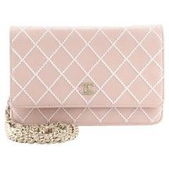 Chanel Diamond Stitch Wallet on Chain Calfskin