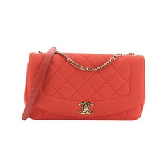 Chanel Diana Flap Bag Quilted Jersey Medium