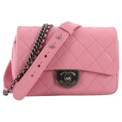 Chanel Double Carry Chain Waist Bag Quilted Goatskin Small