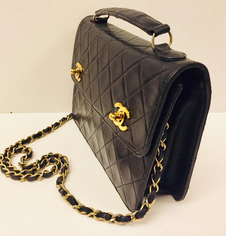 """Women's or Men's Chanel Double """"CC"""" shoulder bag For Sale"""