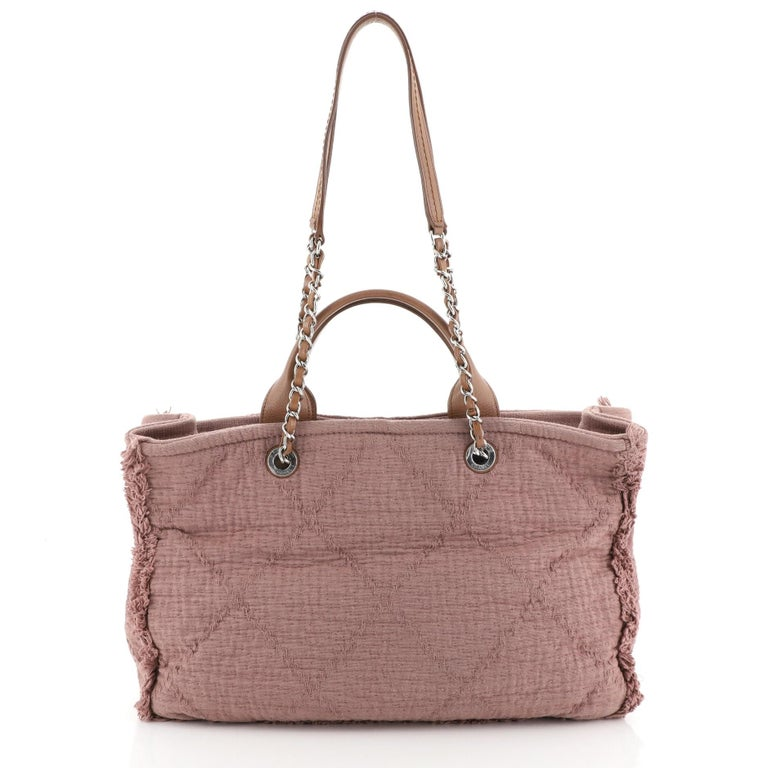 Chanel Double Face Deauville Tote In Good Condition For Sale In New York, NY