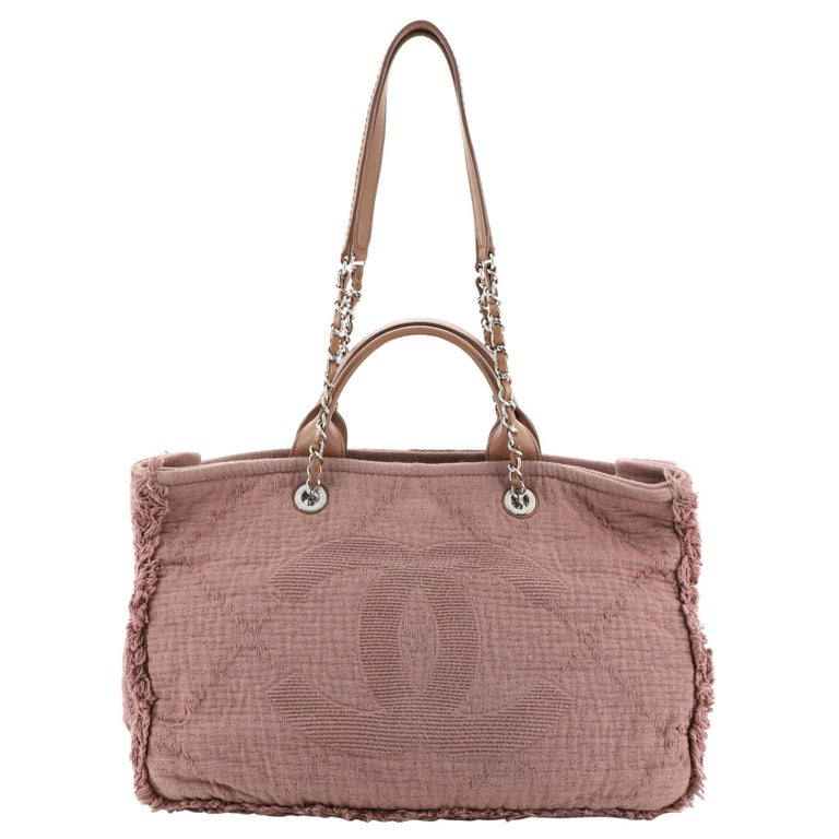 Chanel Double Face Deauville Tote For Sale