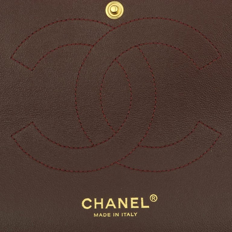 CHANEL Double Flap Jumbo Bag Black Lambskin with Gold Hardware 2014 For Sale 13