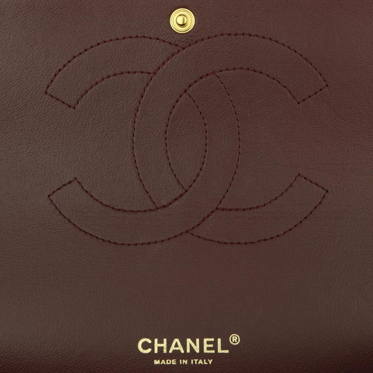 CHANEL Double Flap Maxi Bag Black Caviar with Gold Hardware 2018 13