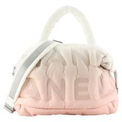 Chanel Doudoune Tote Embossed Nylon Large