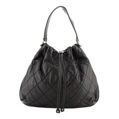 Chanel Drawstring Soft Hobo Quilted Calfskin Large
