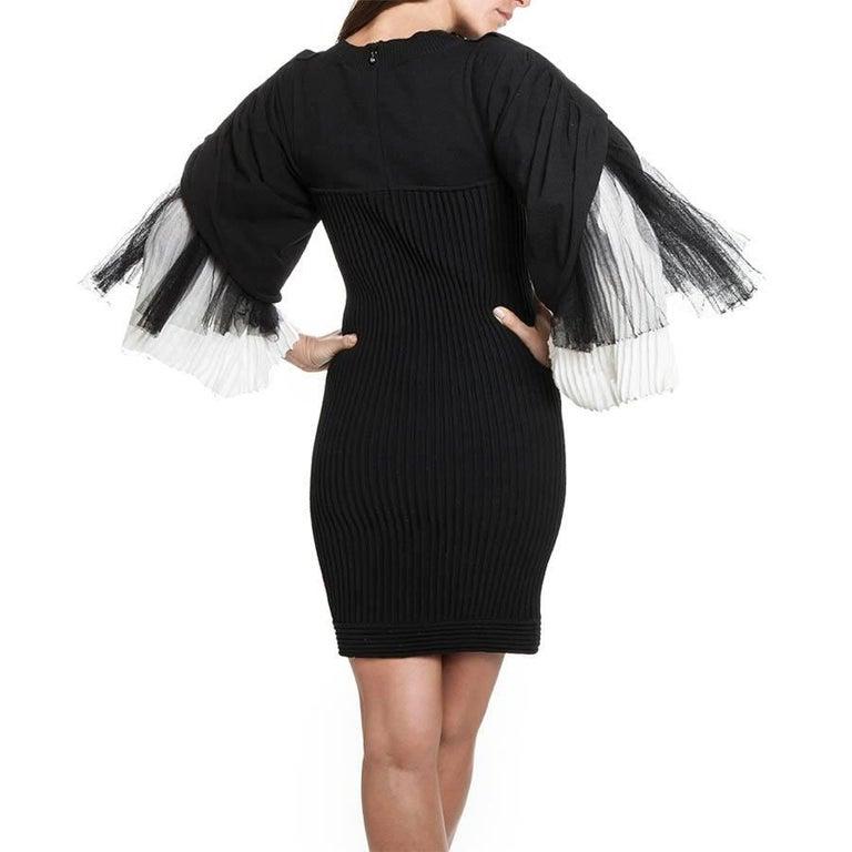Women's CHANEL Dress in Black Cotton Size 36FR For Sale
