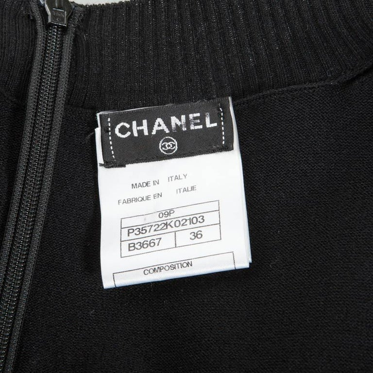 CHANEL Dress in Black Cotton Size 36FR For Sale 5