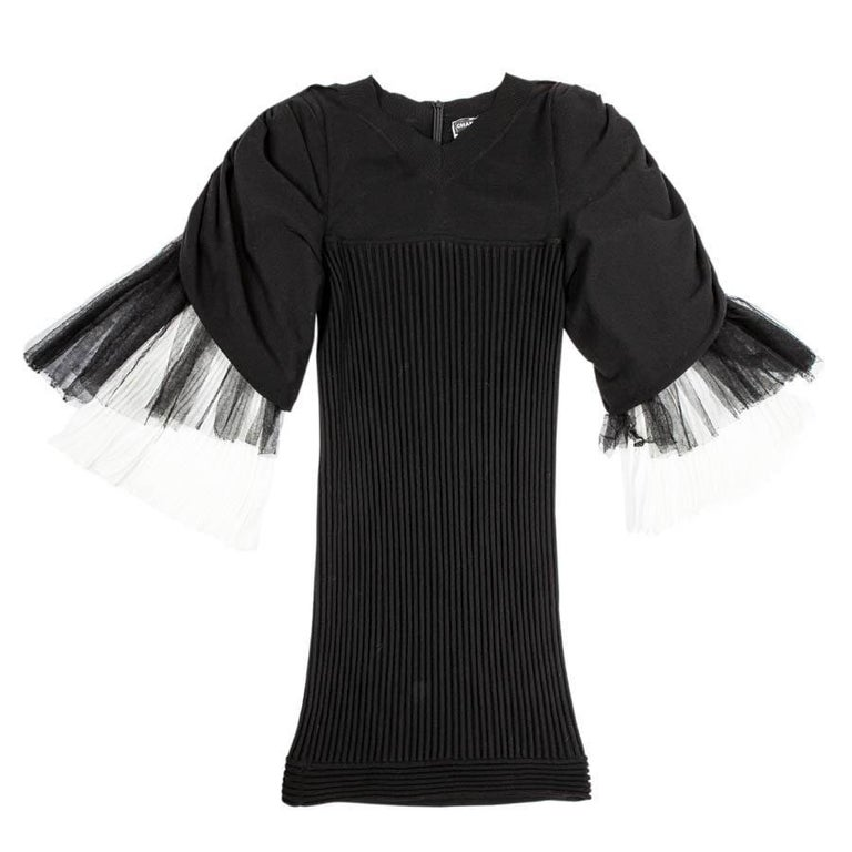 CHANEL Dress in Black Cotton Size 36FR