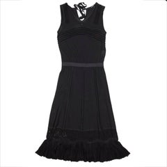 CHANEL Dress in Black Mesh Size 36EU