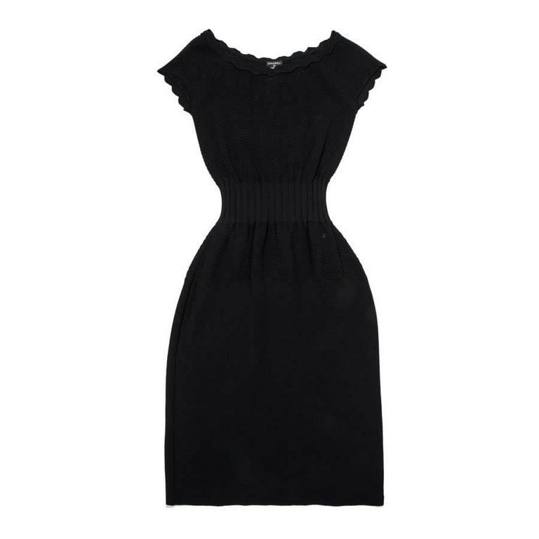 CHANEL Dress in Black Viscose Size 36FR