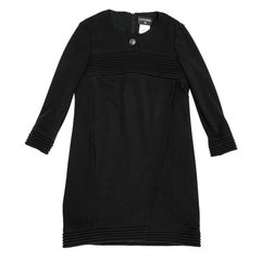 CHANEL Dress in Black Wool Jersey Size 38FR