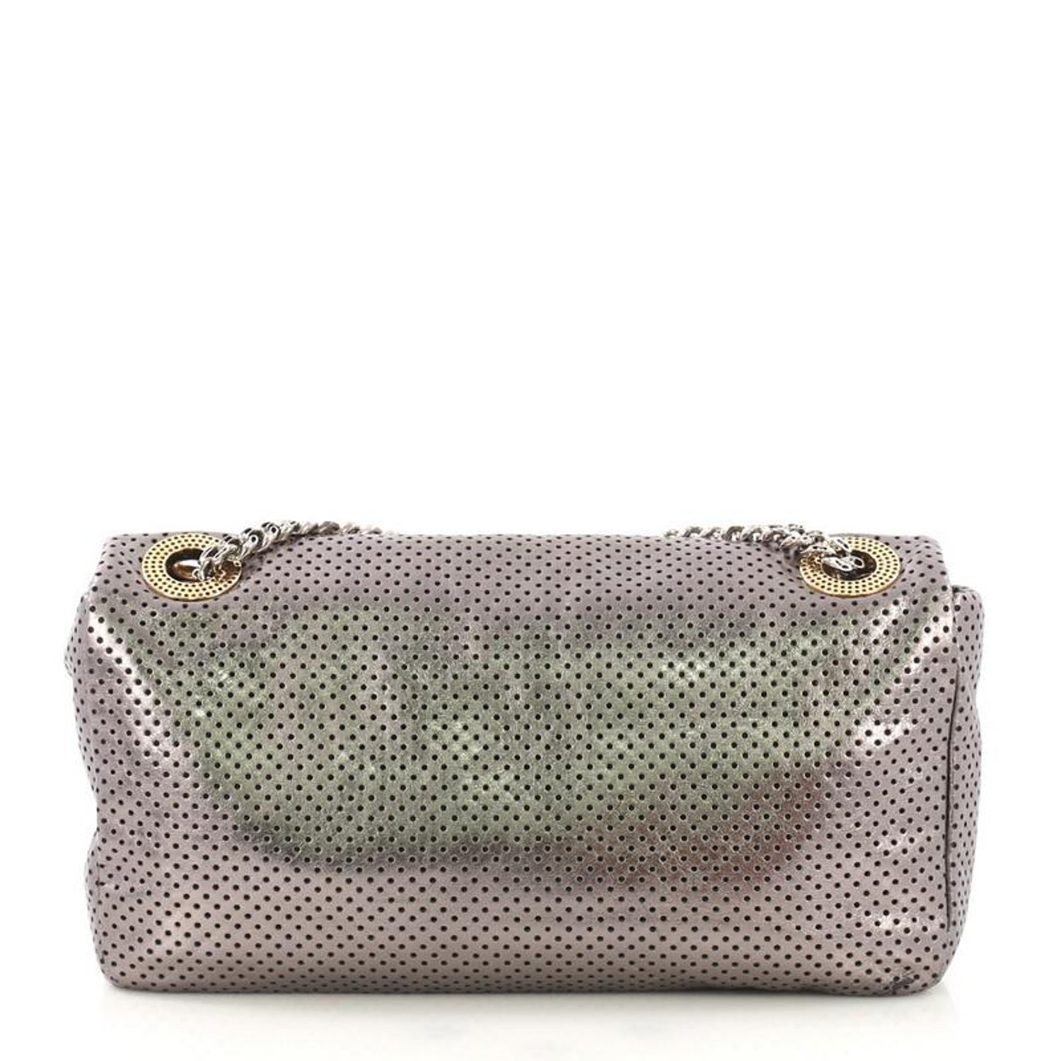 d87bc744224b Chanel Drill Flap Bag Perforated Leather Medium For Sale at 1stdibs