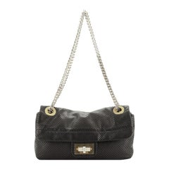Chanel Drill Flap Bag Perforated Leather Small