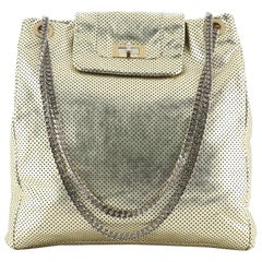 Chanel Drill Tote Perforated Leather Large