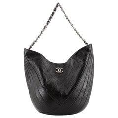 Chanel Droplet Hobo Patent Medium