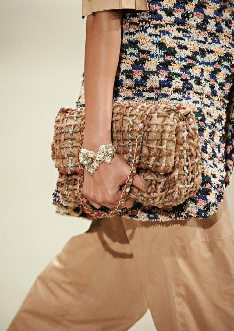 Chanel Dubai Resort Runway 2015 Woven Classic Flap Bag For Sale 5