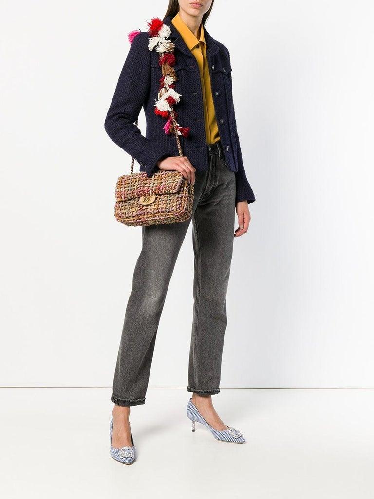 Chanel Dubai Resort Runway 2015 Woven Classic Flap Bag For Sale 1