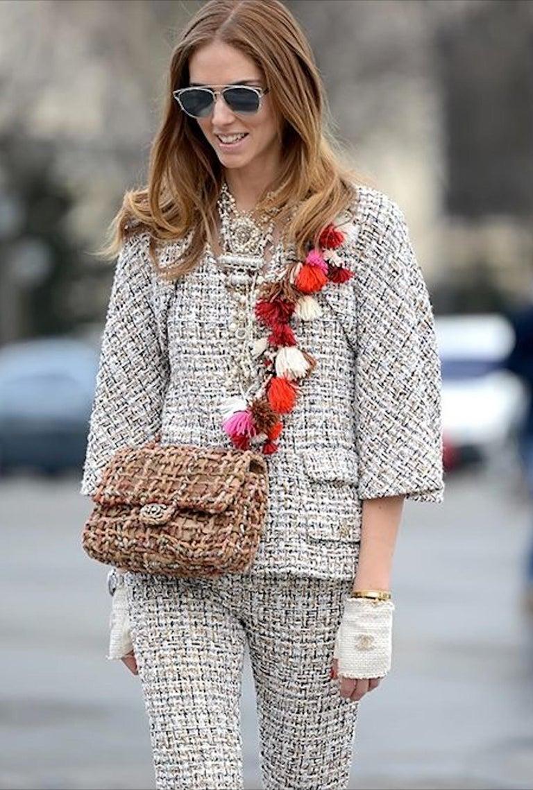 Chanel Dubai Resort Runway 2015 Woven Classic Flap Bag For Sale 2