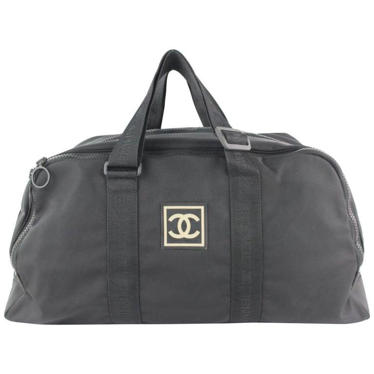 1d39a244c99a Chanel Duffle Cc Logo Sports Boston 19cz1106 Black Canvas Weekend/Travel Bag  For Sale