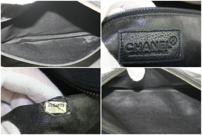 3bf5487771a3 Chanel Duffle Quilted Caviar Jumbo Boston 224146 Black Leather Weekend/TravelBag  In Good Condition For