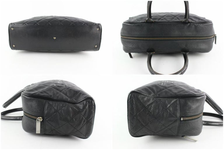 d053cce8672d Chanel Duffle Quilted Caviar Jumbo Boston 224146 Black Leather Weekend/TravelBag  For Sale 1