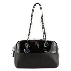 Chanel  Duo Bowling Bag Patent and Calfskin Medium