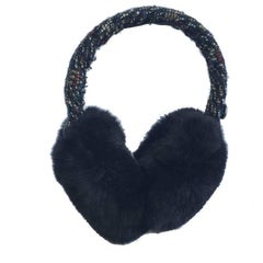 CHANEL Earmuffs in Tweed ant Orylag fur