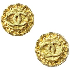 Chanel Earrings Gold Plated 1996